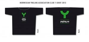 NYKs Y-T-skjorter i str.,M, L, XL Svart med grønn Y