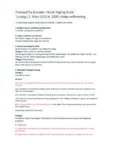 Årsmøteprotokoll NYK 2015